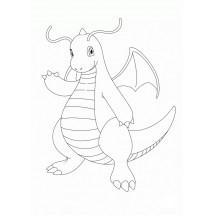 Coloriage Pokémon Dracolosse