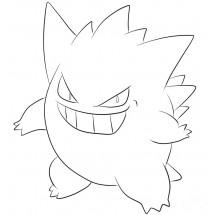 Coloriage Pokémon Ectoplasma