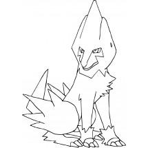 Coloriage Pokémon Élecsprint