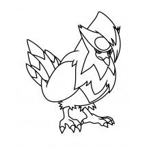 Coloriage Pokémon Étouraptor