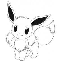 Coloriage Pokémon Évoli
