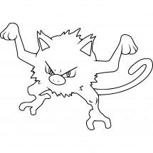 Coloriage Pokémon Férosinge