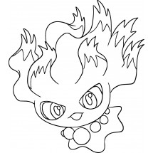 Coloriage Pokémon Feuforêve