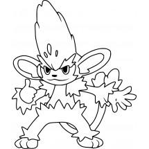 Coloriage Pokémon Feuiloutan
