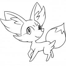 Coloriage Pokémon Feunnec