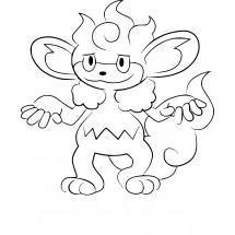 Coloriage Pokémon Flamoutan