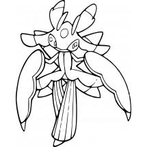 Coloriage Pokémon Floramantis
