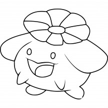 Coloriage Pokémon Floravol