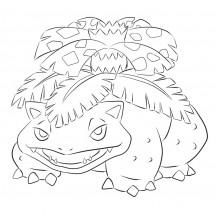 Coloriage Pokémon Florizarre