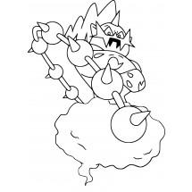 Coloriage Pokémon Fulguris forme Avatar