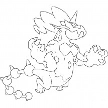 Coloriage Pokémon Fulguris forme Totémique