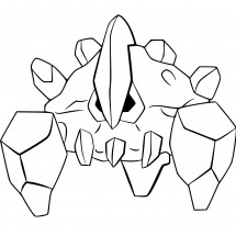 Coloriage Pokémon Géolithe