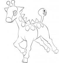 Coloriage Pokémon Girafarig