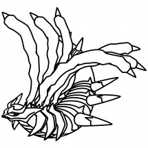 Coloriage Pokémon Giratina forme Originelle