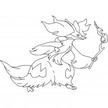 Coloriage Pokémon Goupelin