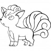 Coloriage Pokémon Goupix