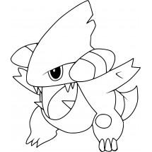 Coloriage Pokémon Griknot