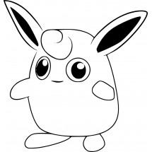 Coloriage Pokémon Grodoudou