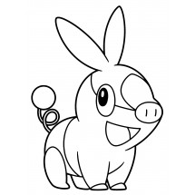 Coloriage Pokémon Gruikui