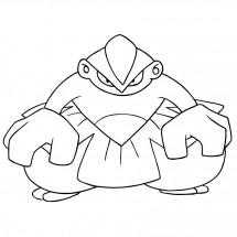Coloriage Pokémon Hariyama