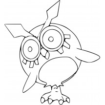 Coloriage Pokémon Hoothoot