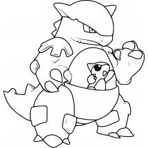 Coloriage Pokémon Kangourex