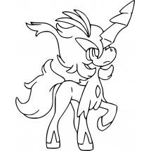 Coloriage Pokémon Keldeo aspect Décidé