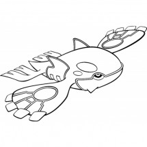 Coloriage Pokémon Kyogre