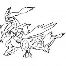 Coloriage Pokémon Kyurem Blanc