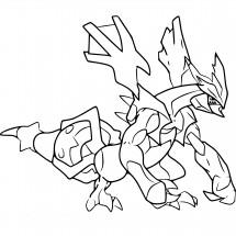 Coloriage Pokémon Kyurem Noir