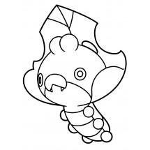 Coloriage Pokémon Larveyette