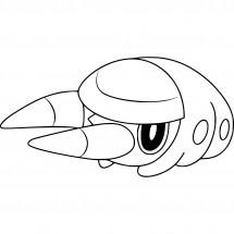 Coloriage Pokémon Larvibule