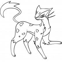 Coloriage Pokémon Léopardus