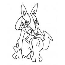 Coloriage Pokémon Lucario