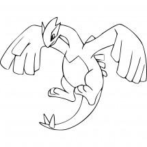 Coloriage Pokémon Lugia