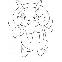 Coloriage Pokémon Lumivole