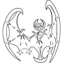 Coloriage Pokémon Lunala