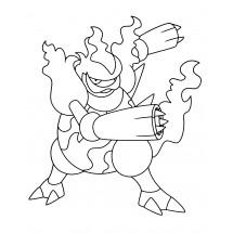 Coloriage Pokémon Maganon