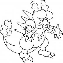Coloriage Pokémon Magmar