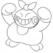 Coloriage Pokémon Makuhita