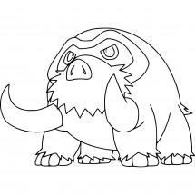 Coloriage Pokémon Mammochon