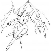 Coloriage Pokémon Mandrillon