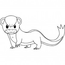 Coloriage Pokémon Manglouton