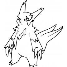 Coloriage Pokémon Mangriff
