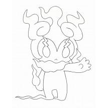 Coloriage Pokémon Marshadow pleine puissance