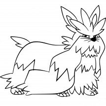 Coloriage Pokémon Mastouffe
