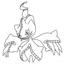 Coloriage Pokémon Méga-Branette