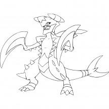 Coloriage Pokémon Méga-Carchacrok