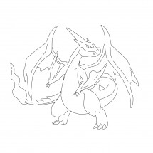 Coloriage Pokémon Méga-Dracaufeu Y