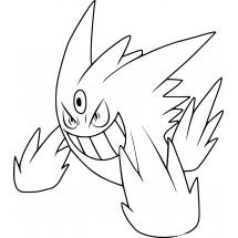 Coloriage Pokémon Méga-Ectoplasma